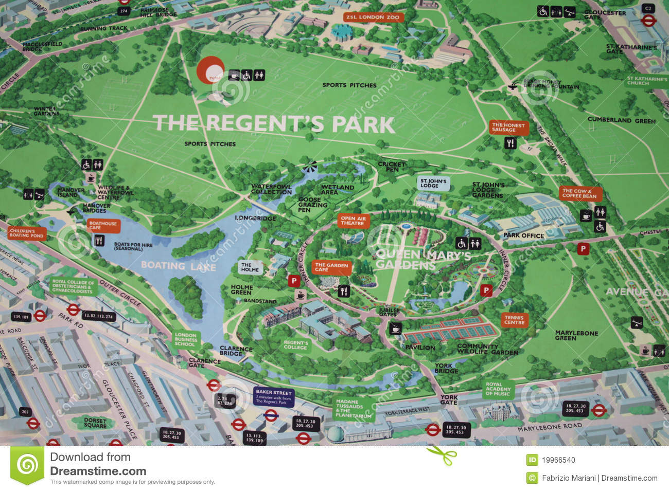 Map Of Regent\\\\\\\'s Park Regent's park map sign editorial image. Image of english   19966540