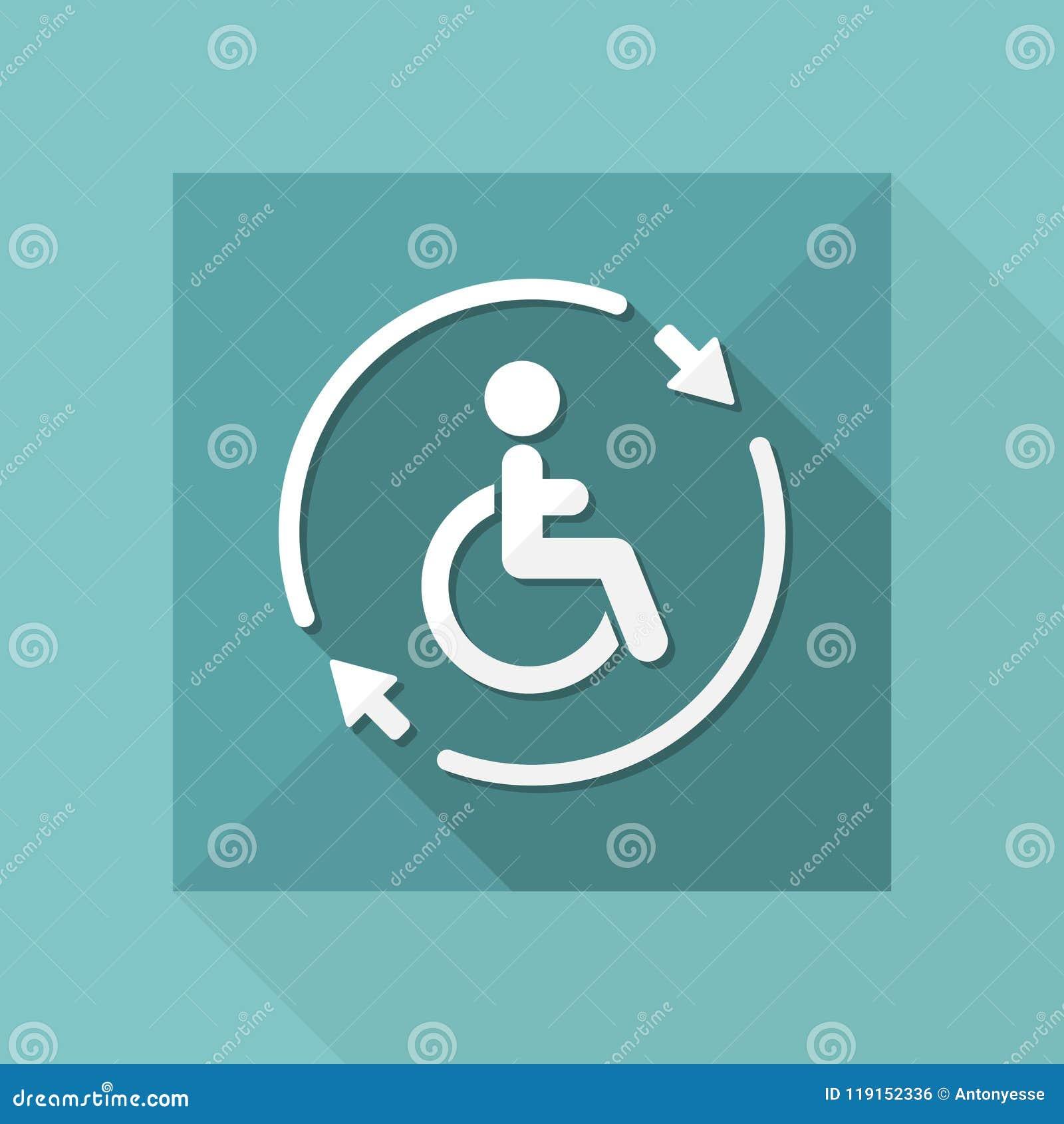 Regga il servizio handicappato di assistenza - Vector l icona di web