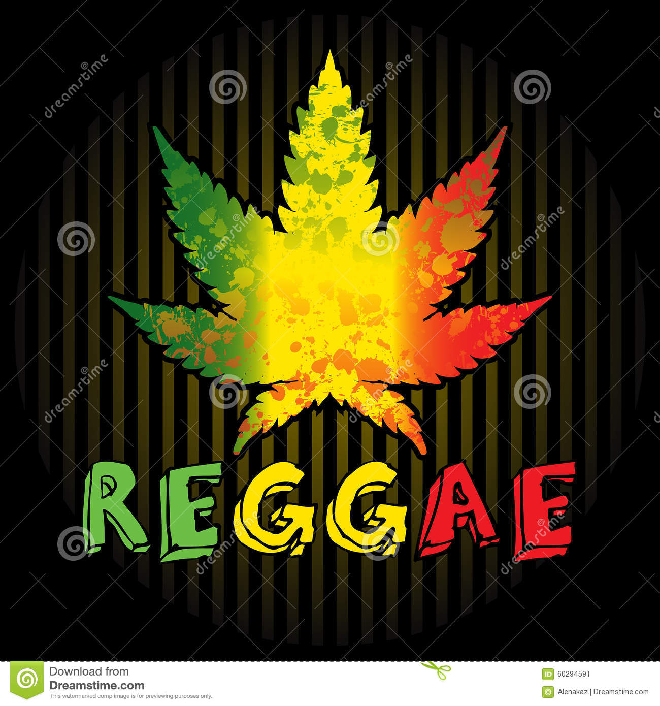 Reggae Stock Vector Image 60294591
