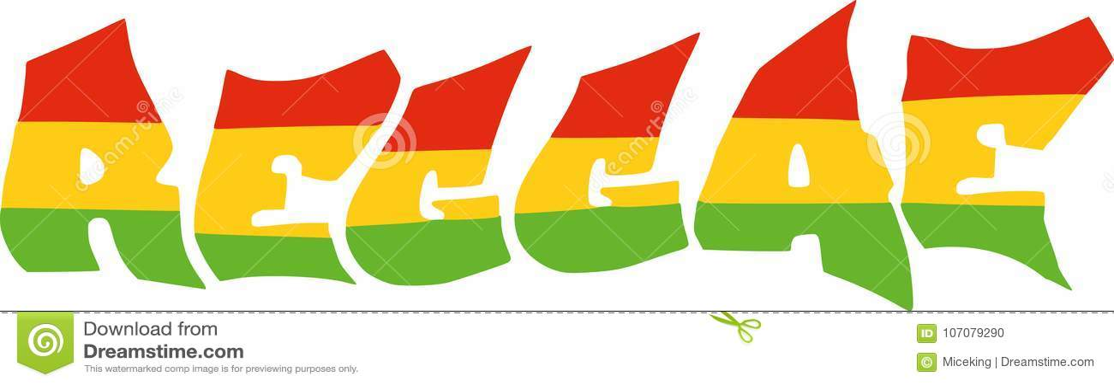 Reggae in Jamaika-Flagge vektor abbildung. Illustration von ...