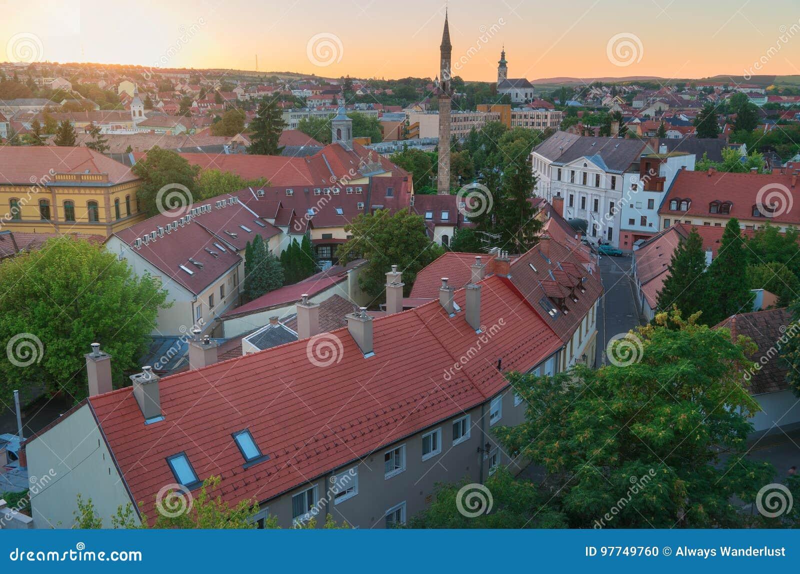 A região bonita do vinho de Eger em Hungria