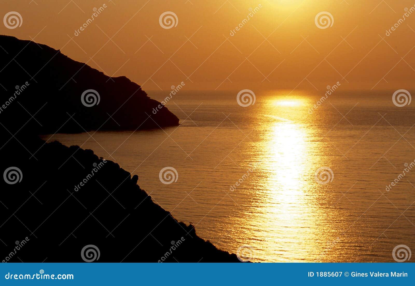 Region morza Śródziemnego słońca