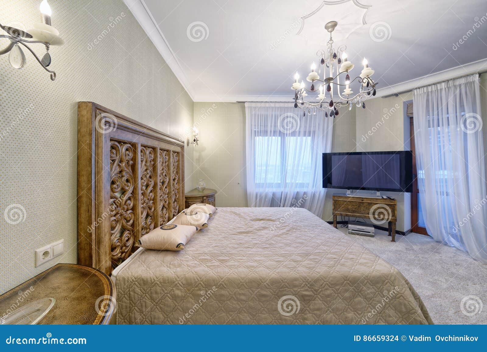 Camere Da Letto Di Campagna.Regione Della Russia Mosca L Interno Di Una Camera Da Letto In