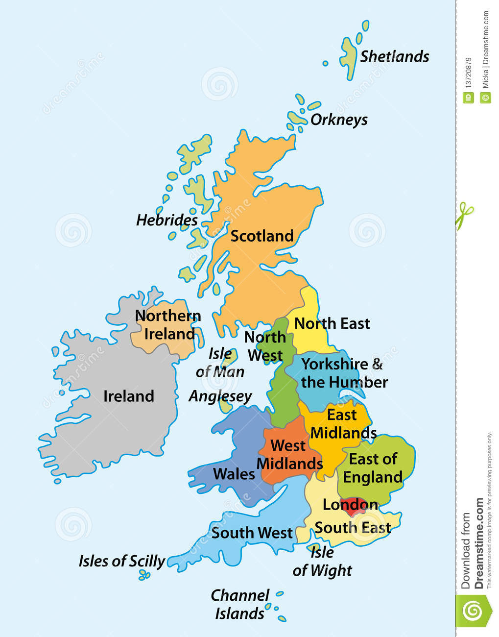 regions of england royalty free stock images image 13720879