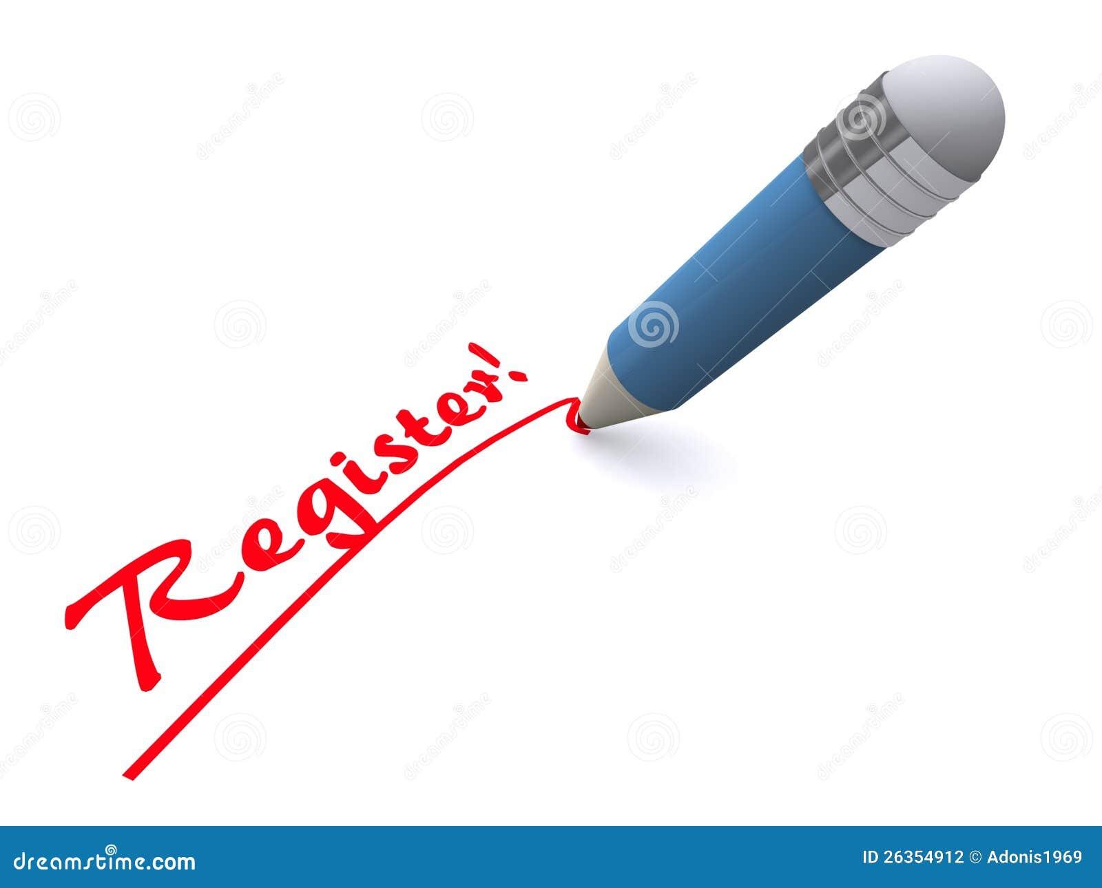 Register för pennwritingord