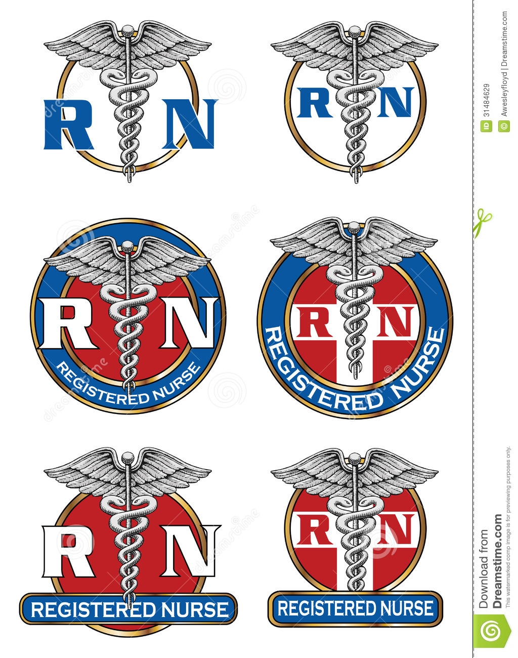 Registered Nurse Designs Royalty Free Stock Images Image