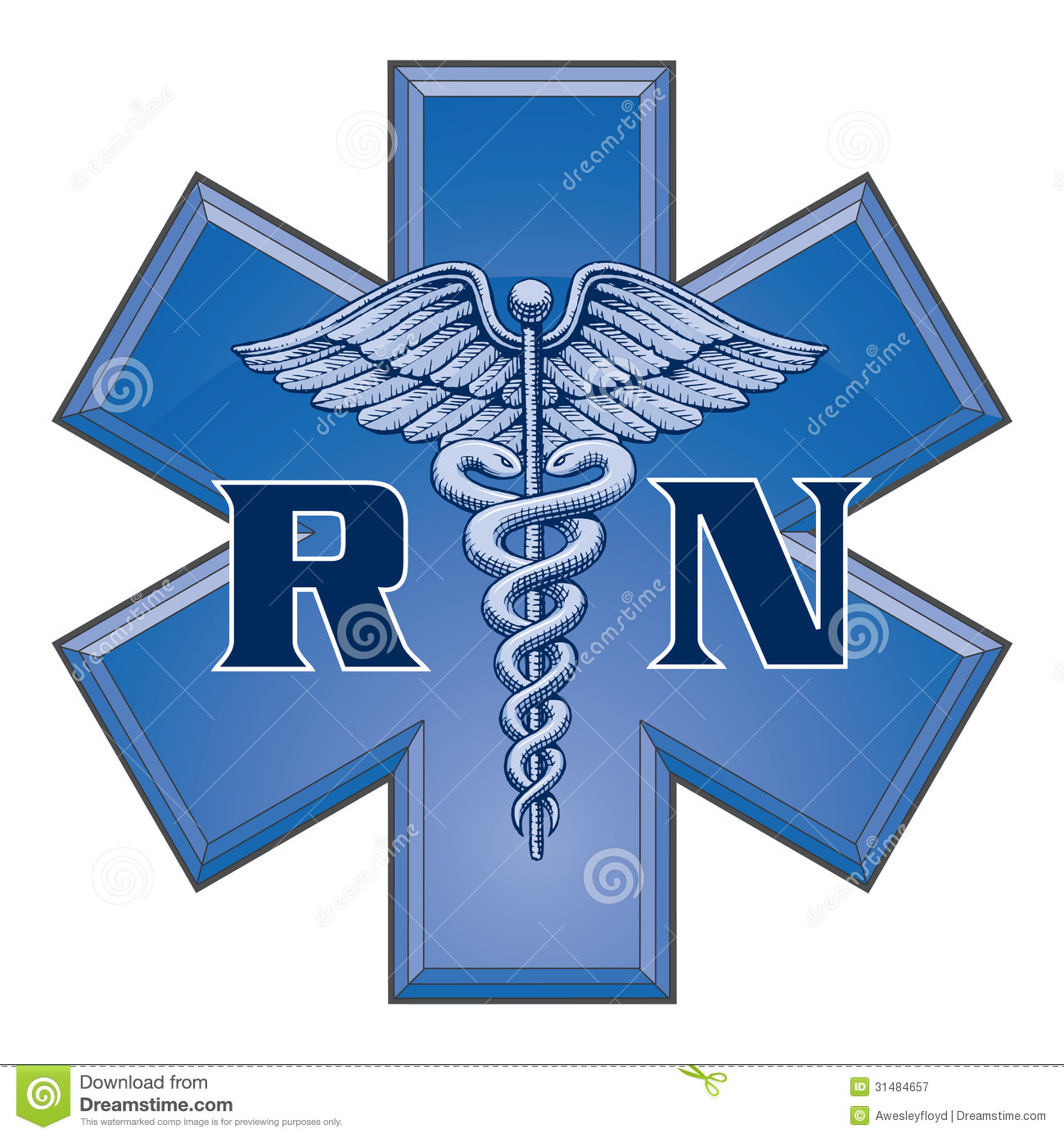 Registered nurse star of life medical symbol stock vector royalty free stock photo buycottarizona Image collections