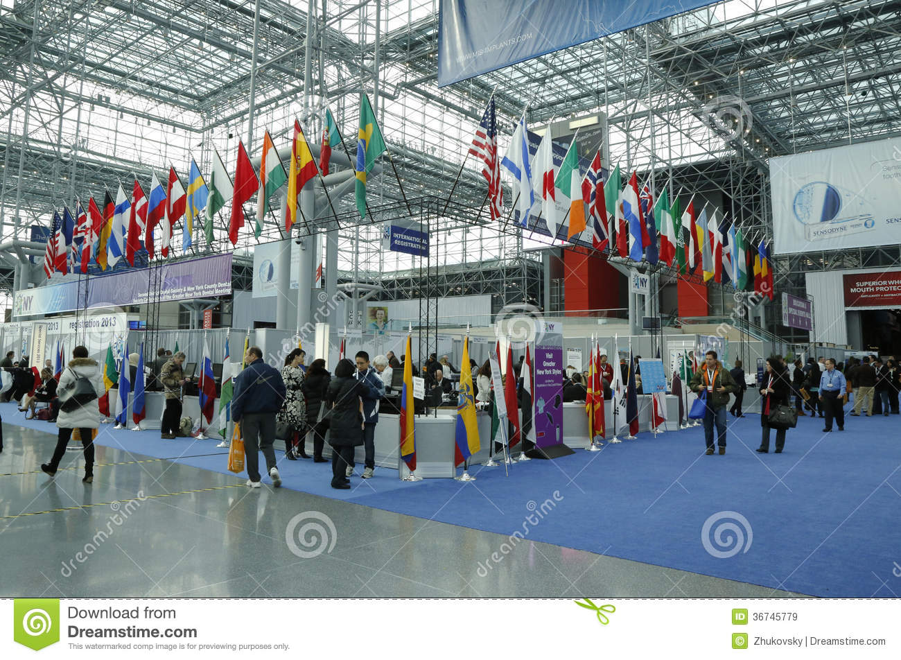 Registration Area At The Greater New York Dental Meeting At Javits - Nyc map javits center