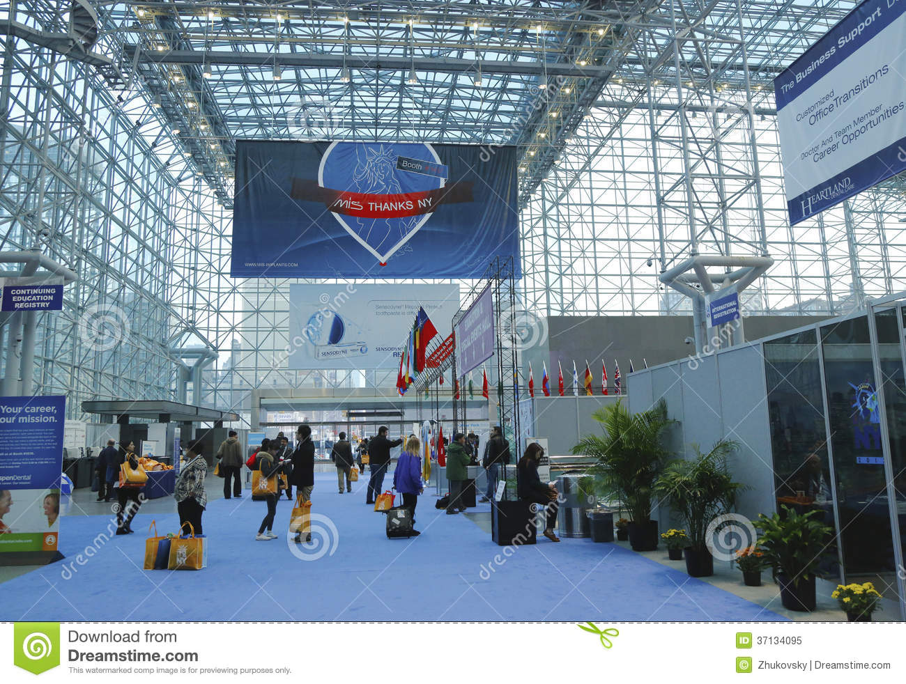 Javits Center Floor Plan Registration Area At The Greater Ny Dental Meeting At