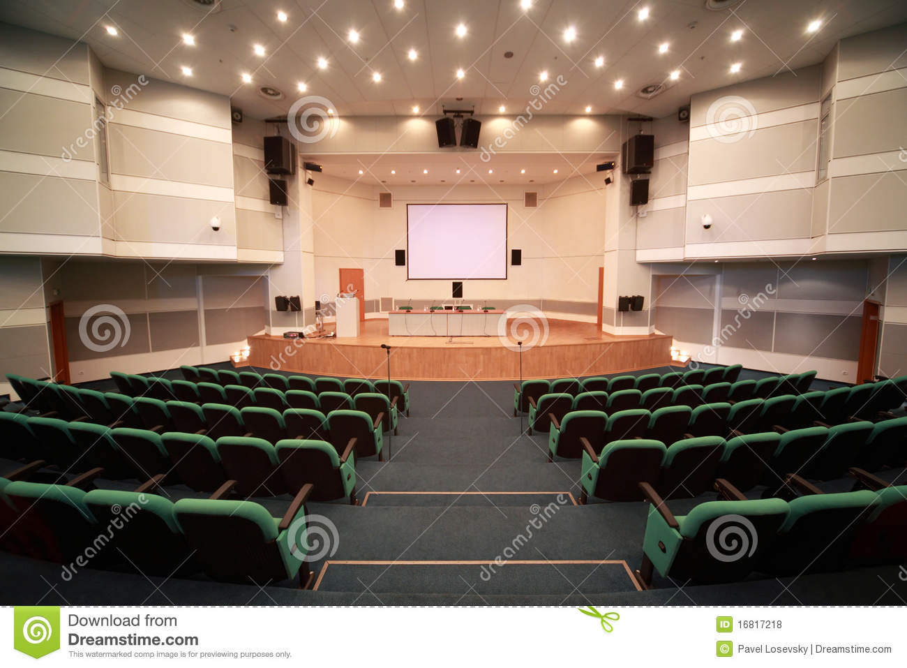 Registration Of Scene And Conference Hall Interior Stock