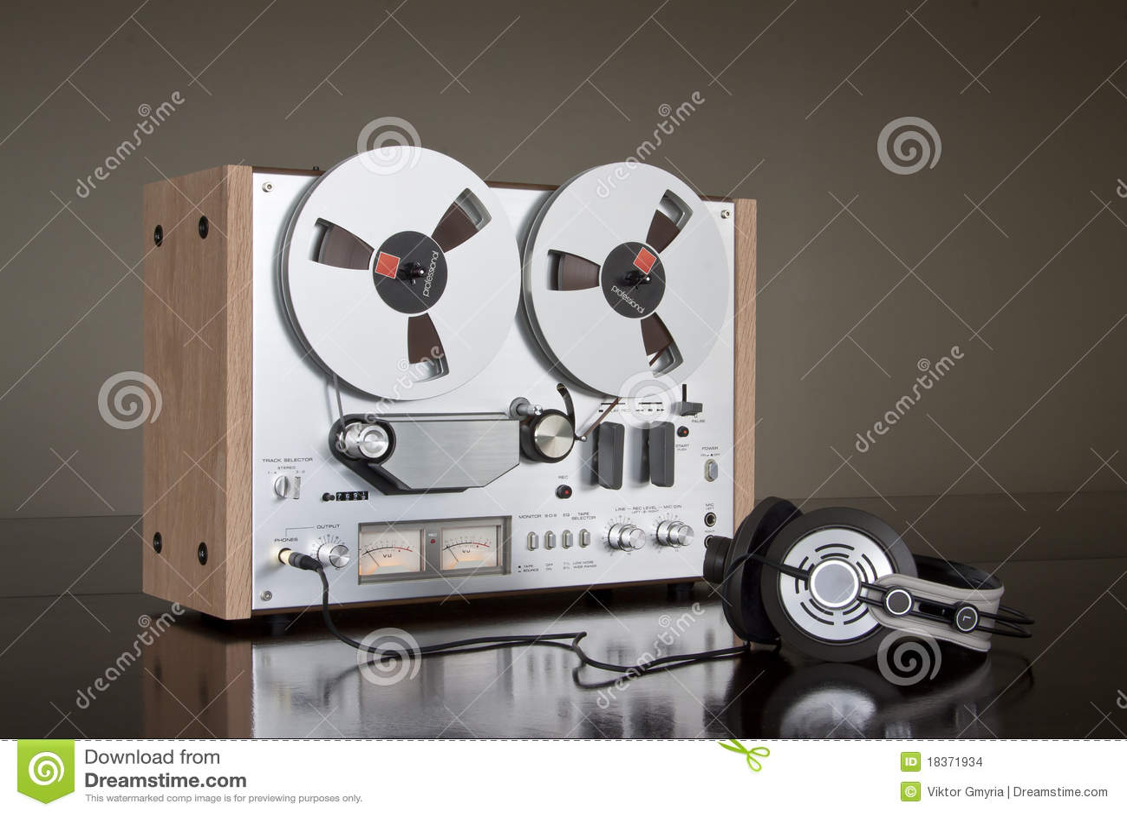 Registratore stereo bobina a bobina della piastra di registrazione dell annata