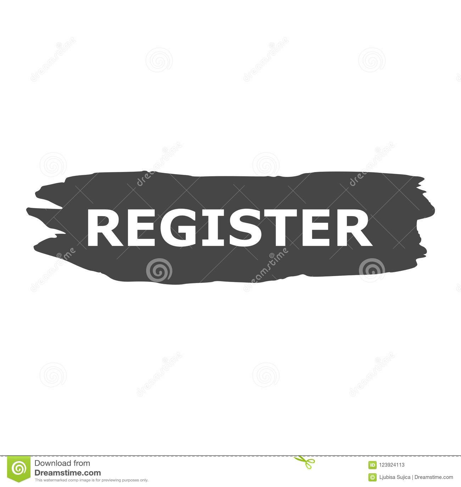 Registrieren Sie Fahne, Registerzeichen, einfache Vektorikone