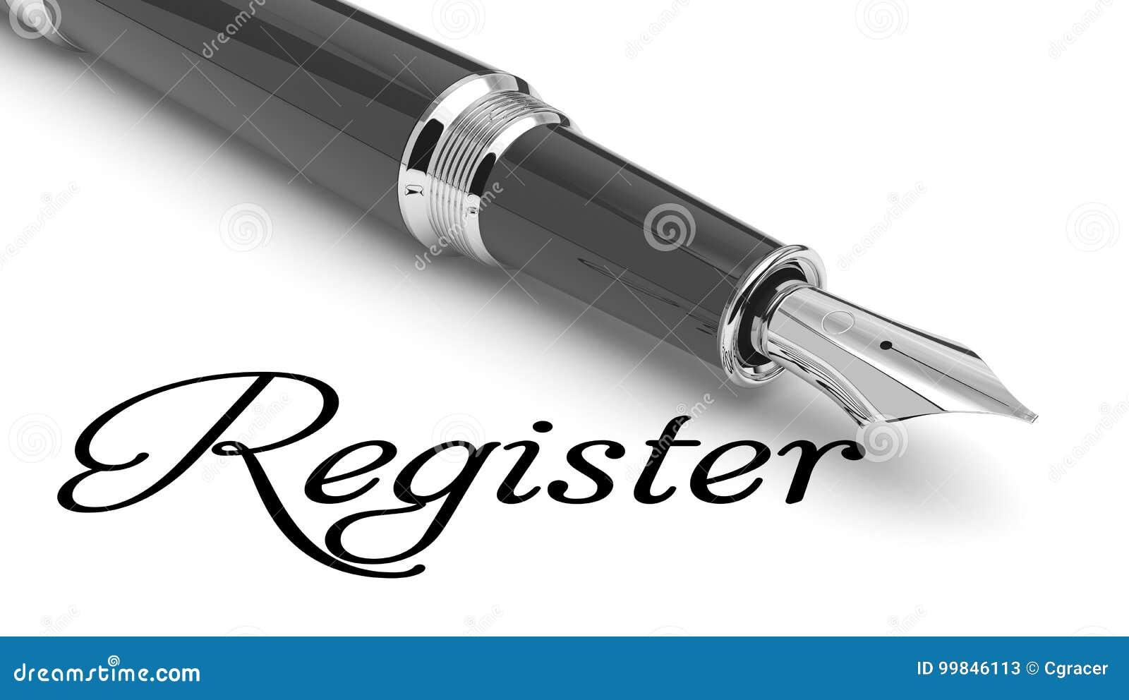 Registrieren Sie online