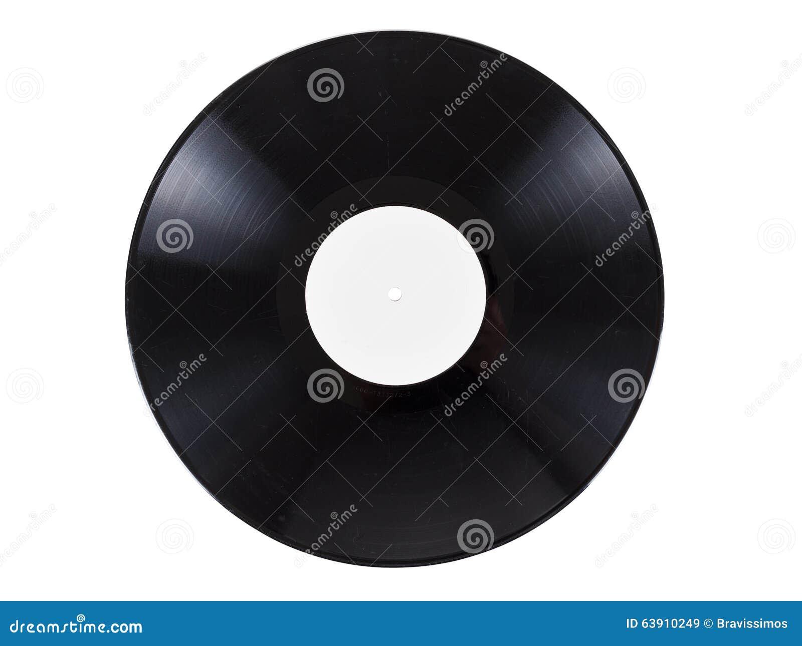 Registro audio do vinil retro com os riscos, isolados no fundo branco