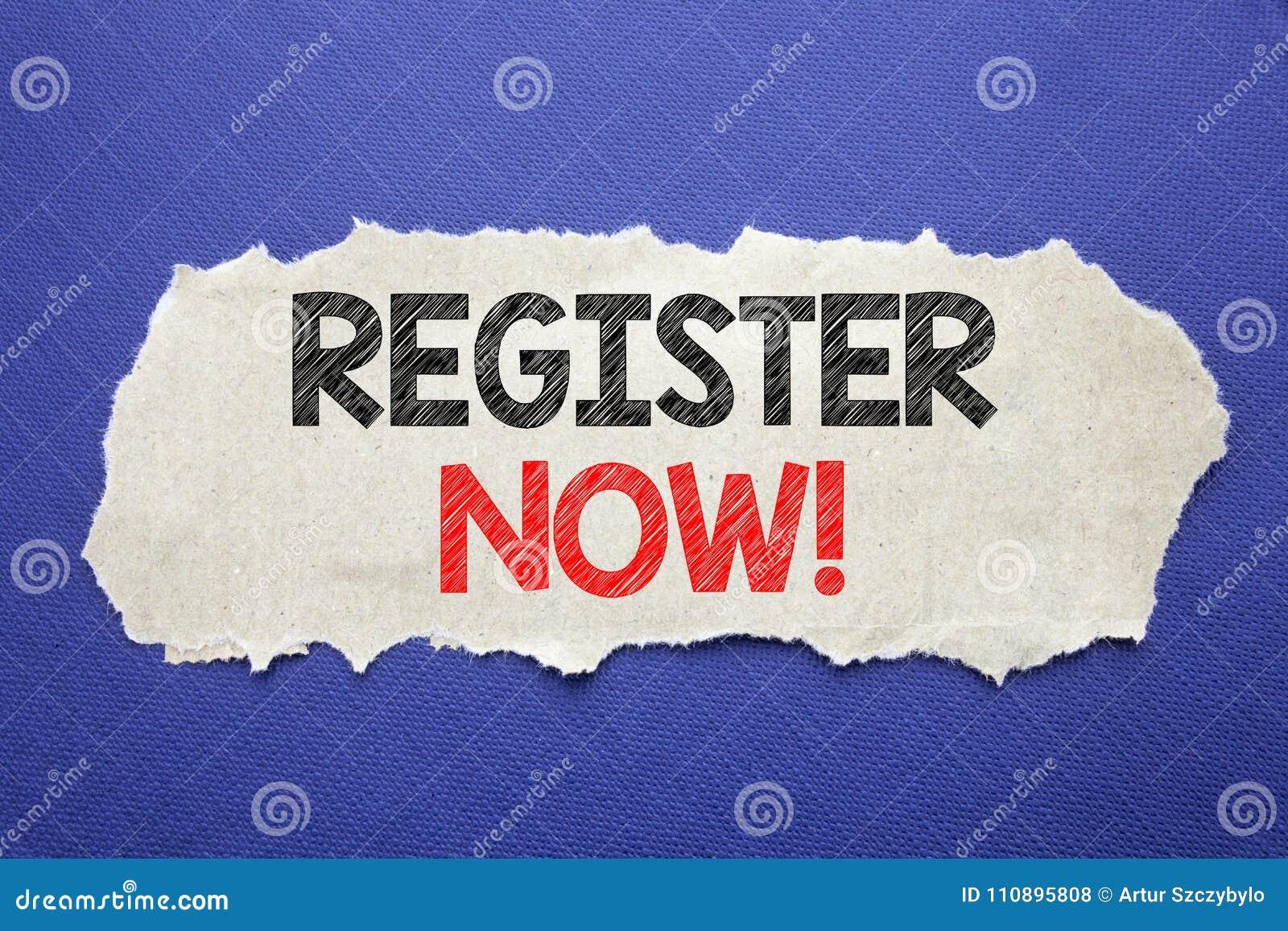 Registro da exibição do texto do anúncio da escrita agora Conceito do negócio para Join para a sociedade escrita no papel de nota