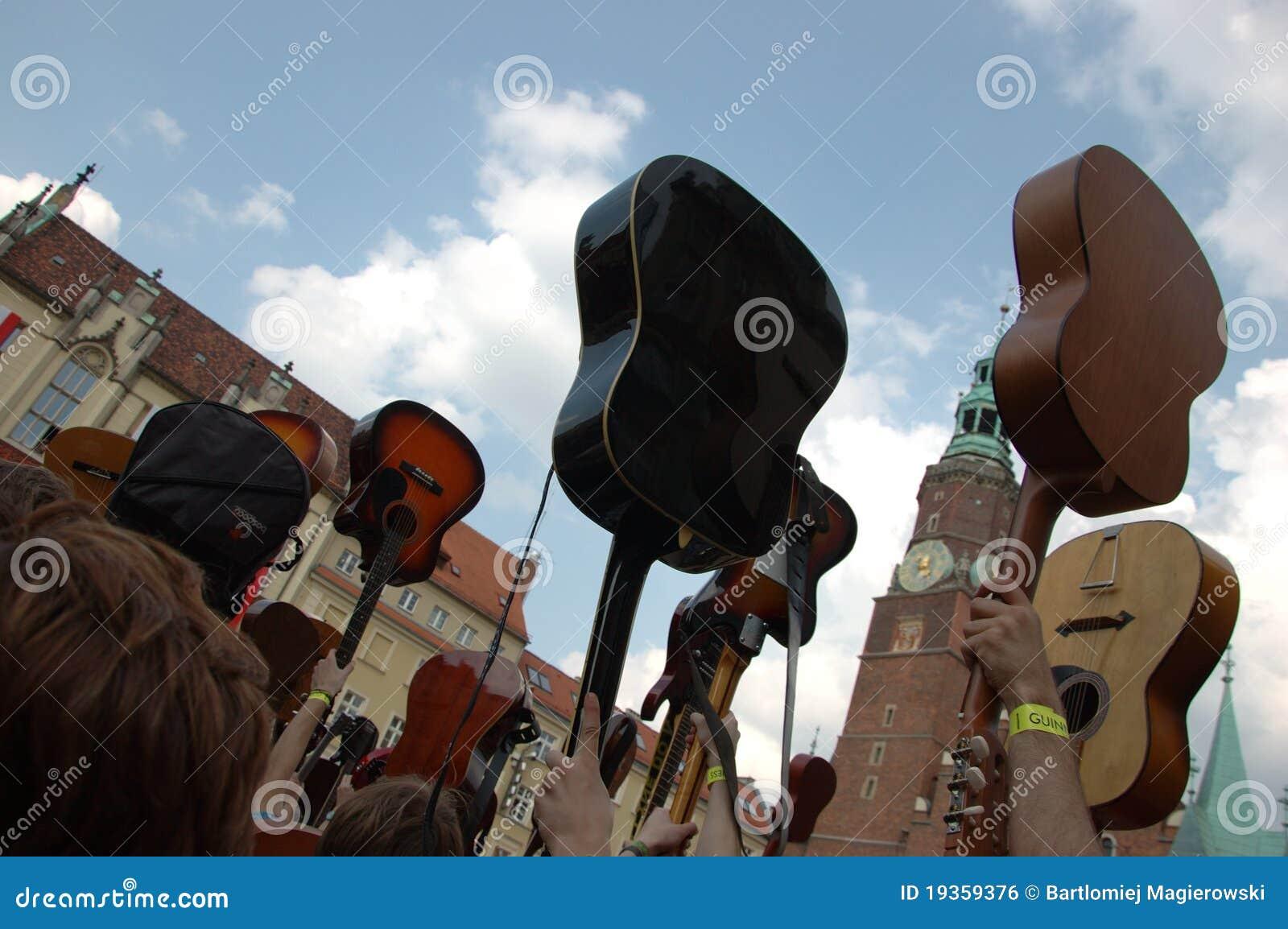 Registro de Guinness do mundo das guitarra