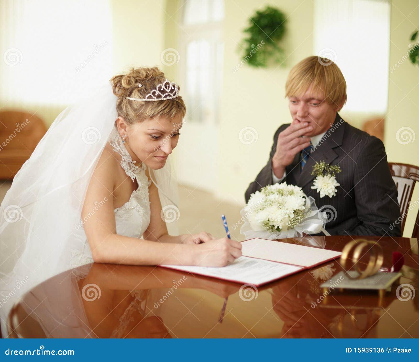 Registro dell unione. Sposo in dubbio.