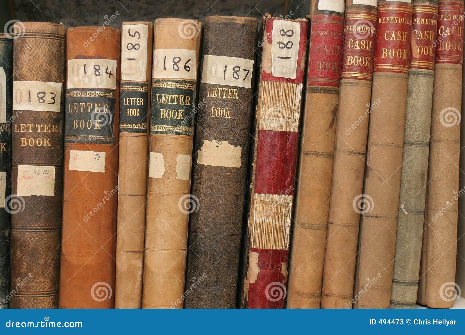 Registros da correspondência e da finança em arquivos da companhia