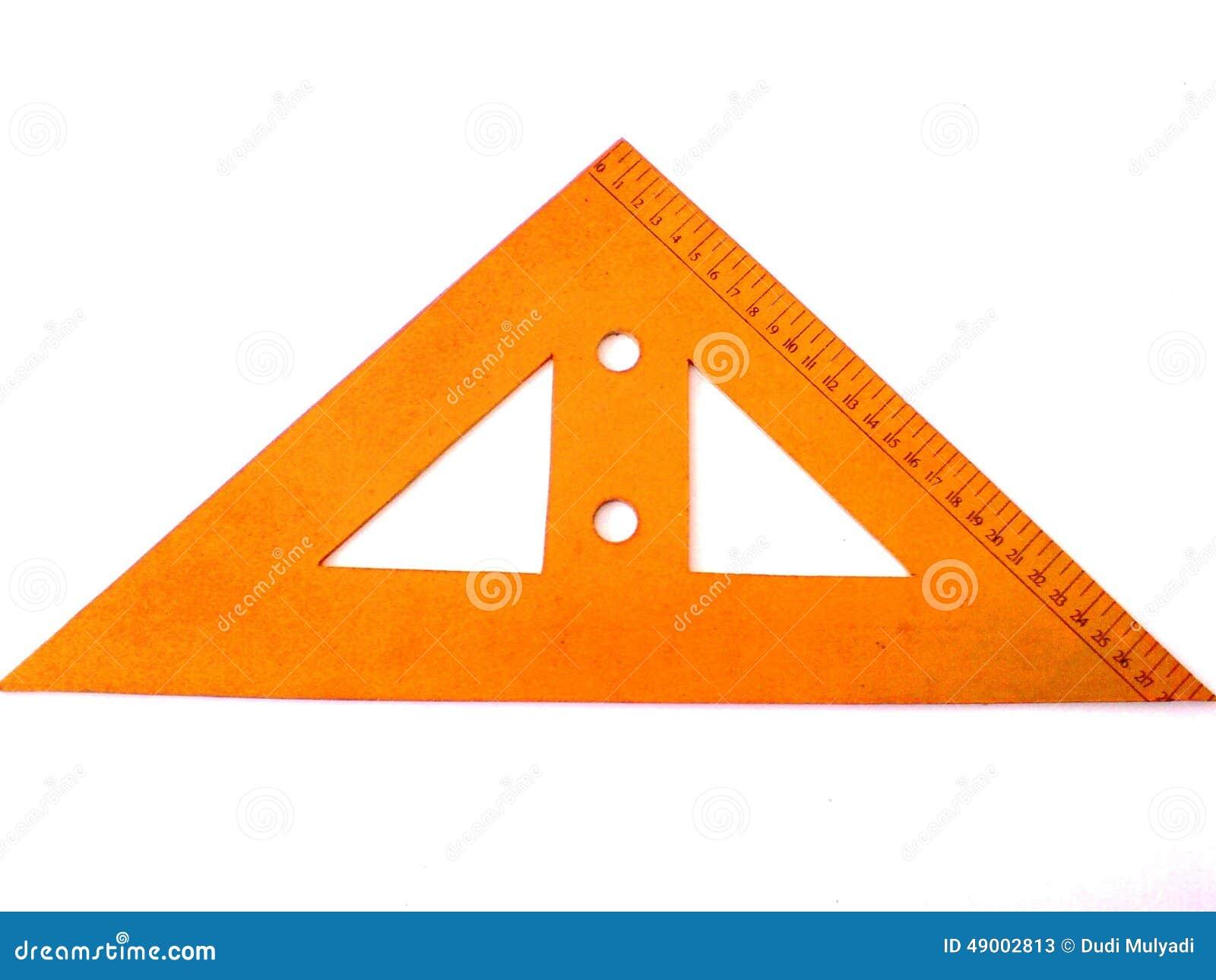 Regla de madera del triángulo