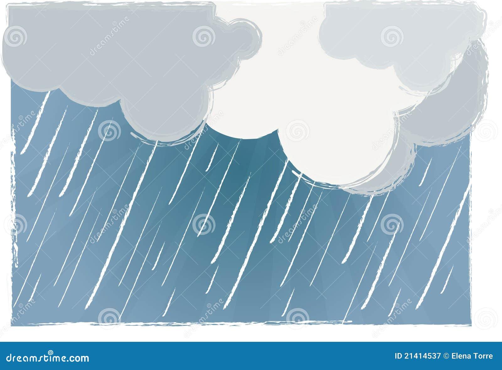 Regnig vektor för dag
