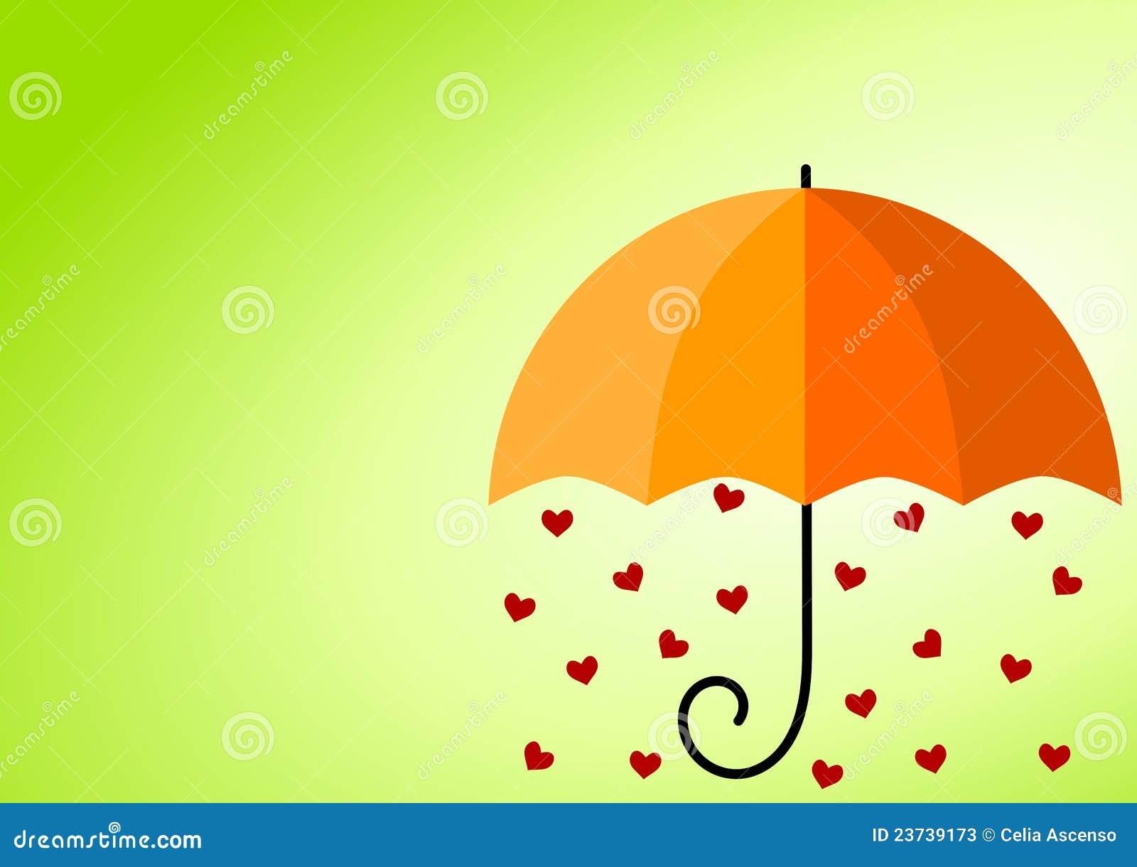 Regnigt paraply för hjärtor