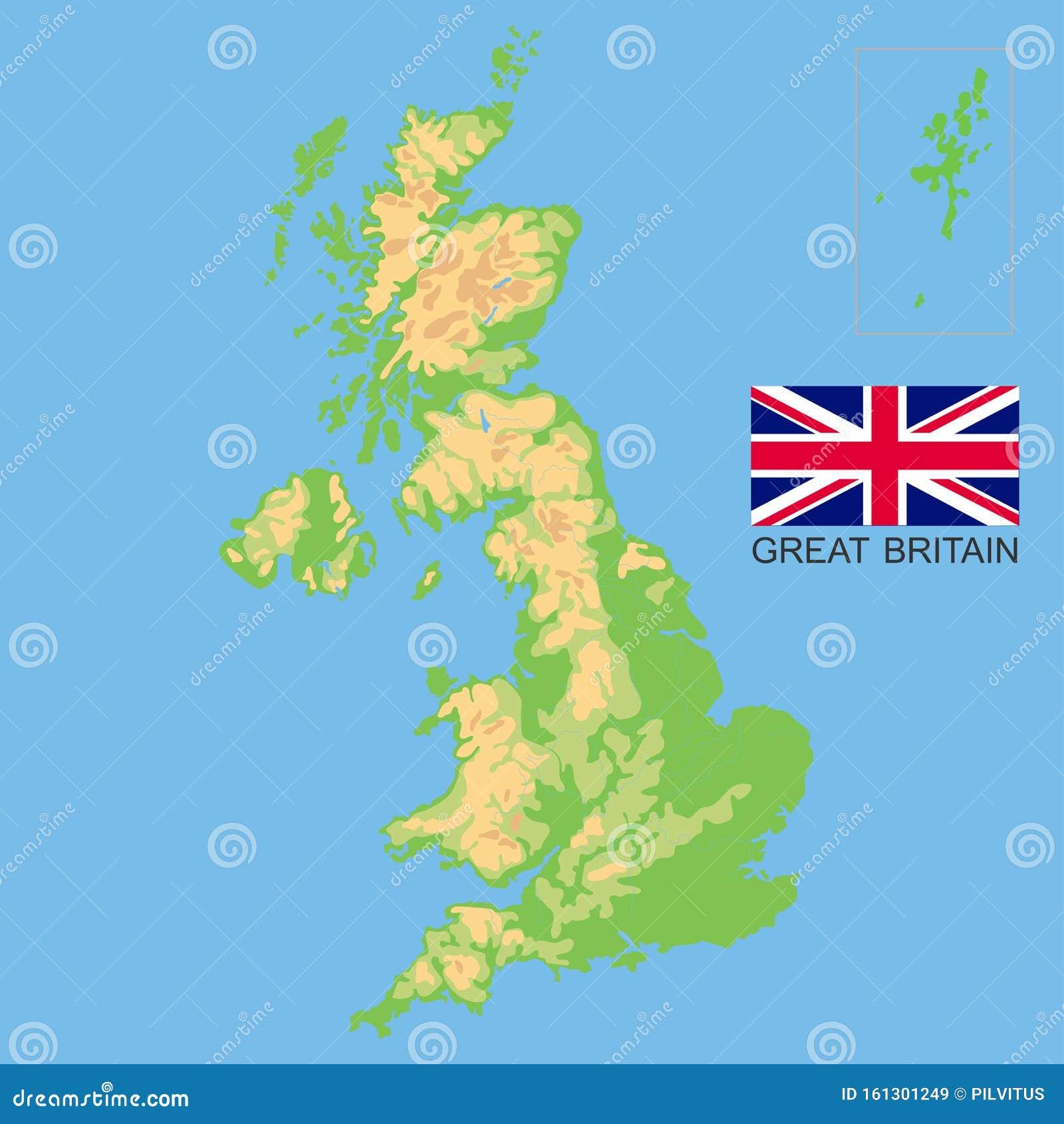 Immagini Della Cartina Della Gran Bretagna.Regno Unito Mappa Fisica Dettagliata Della Gran Bretagna Colorata In Base All Elevazione Con Fiumi Laghi Montagne Illustrazione Vettoriale Illustrazione Di Naturalizzato Modificabile 161301249