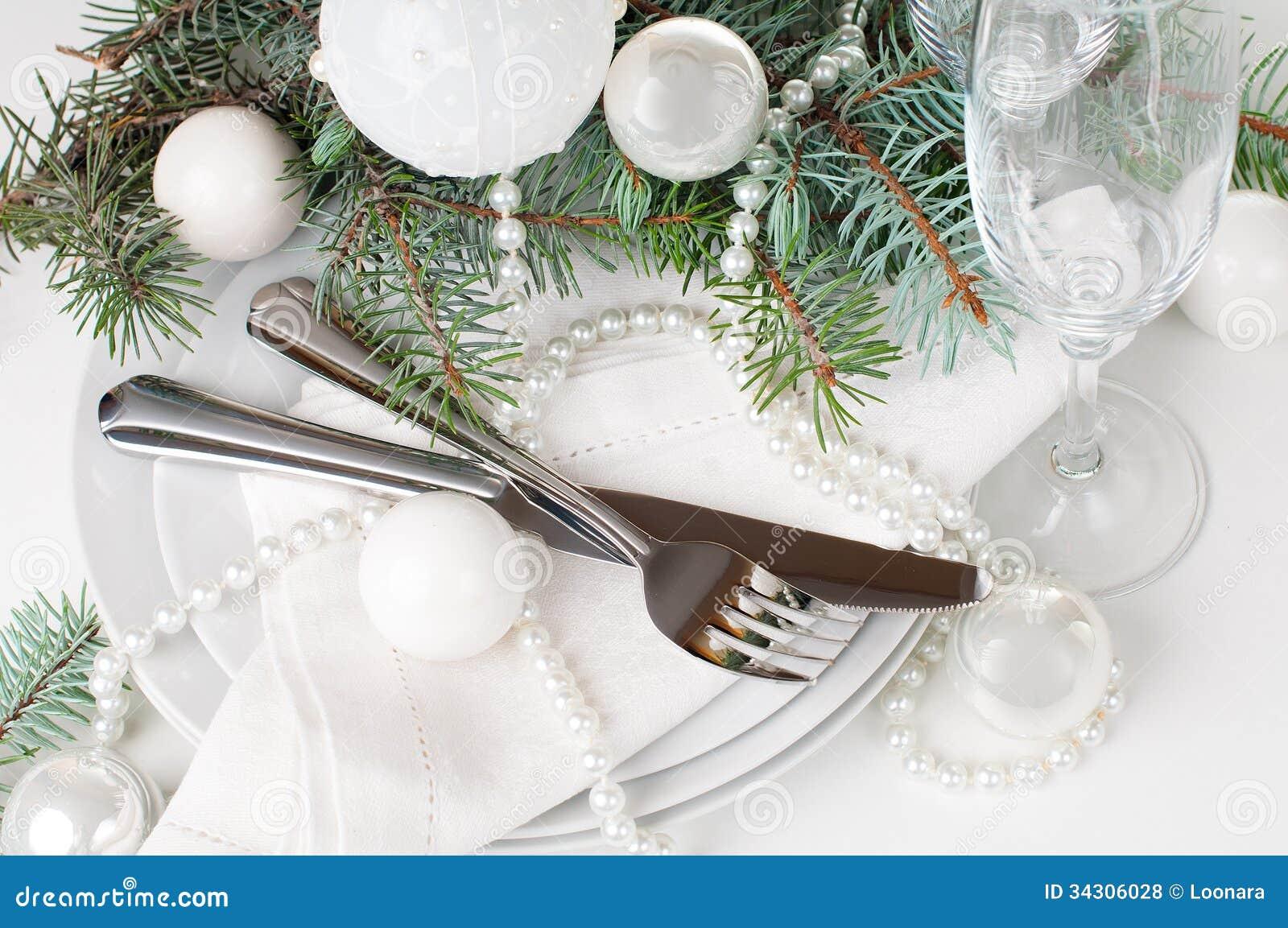 Regolazione Della Tavola Di Natale Decorazione