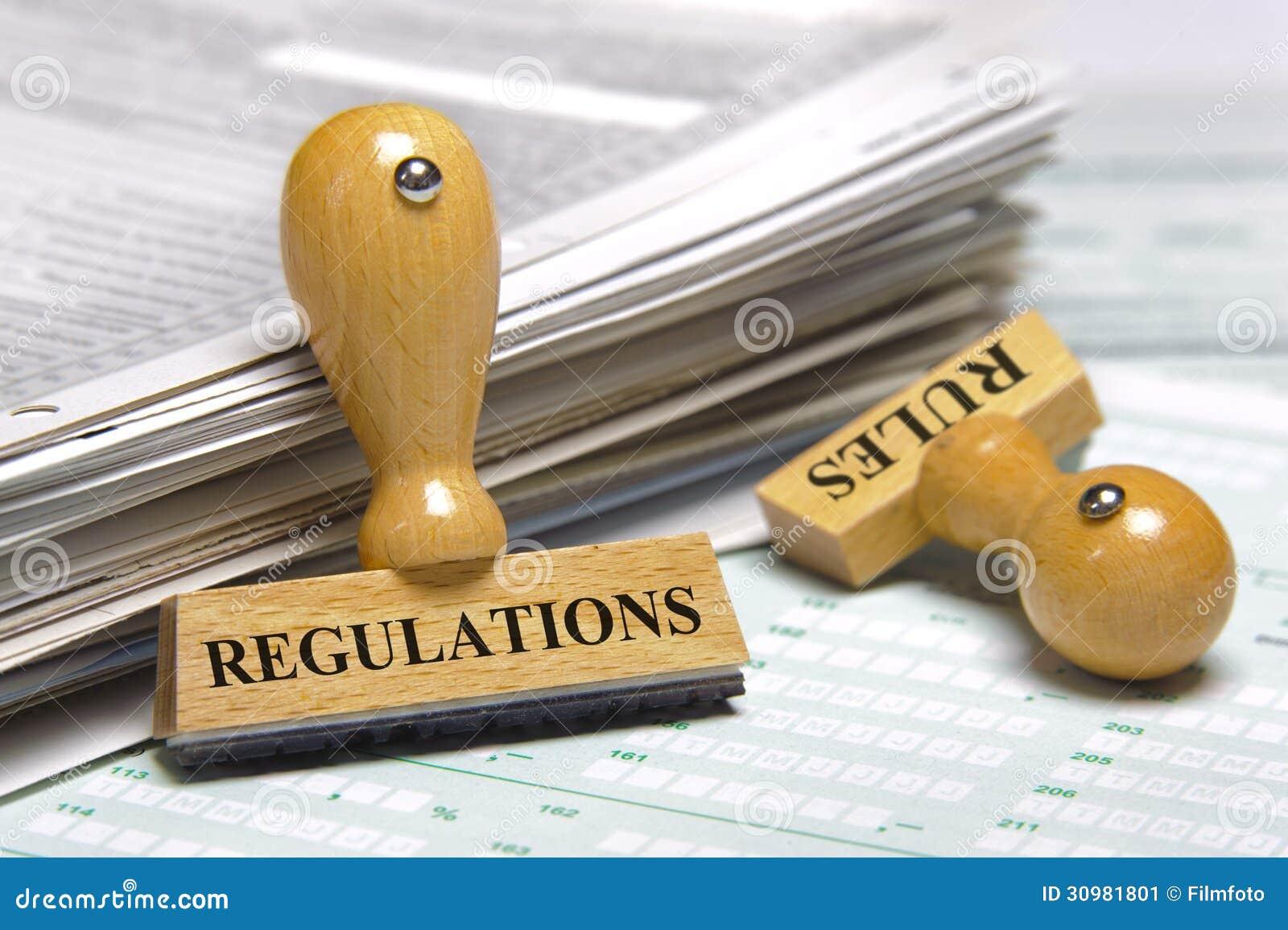 Regras e regulamentos