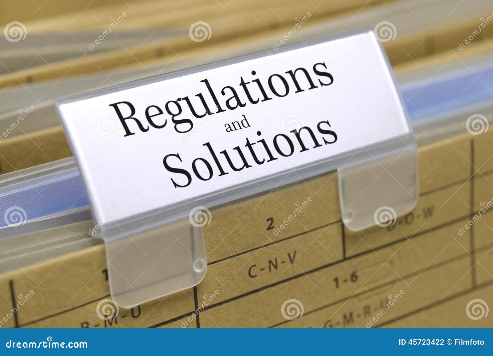 Regulaciones y soluciones