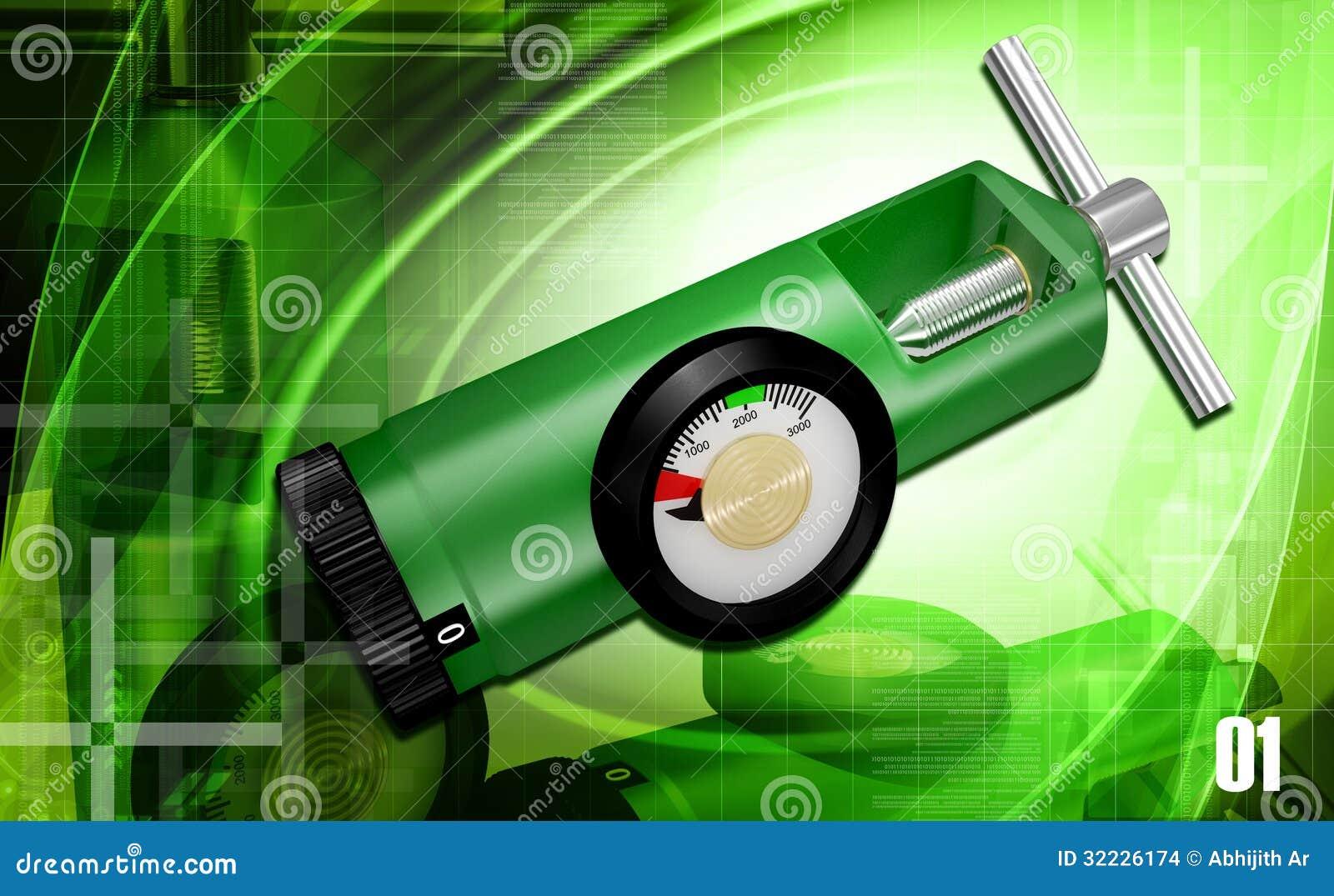 Download Regulador do oxigênio ilustração stock. Ilustração de pesquisa - 32226174