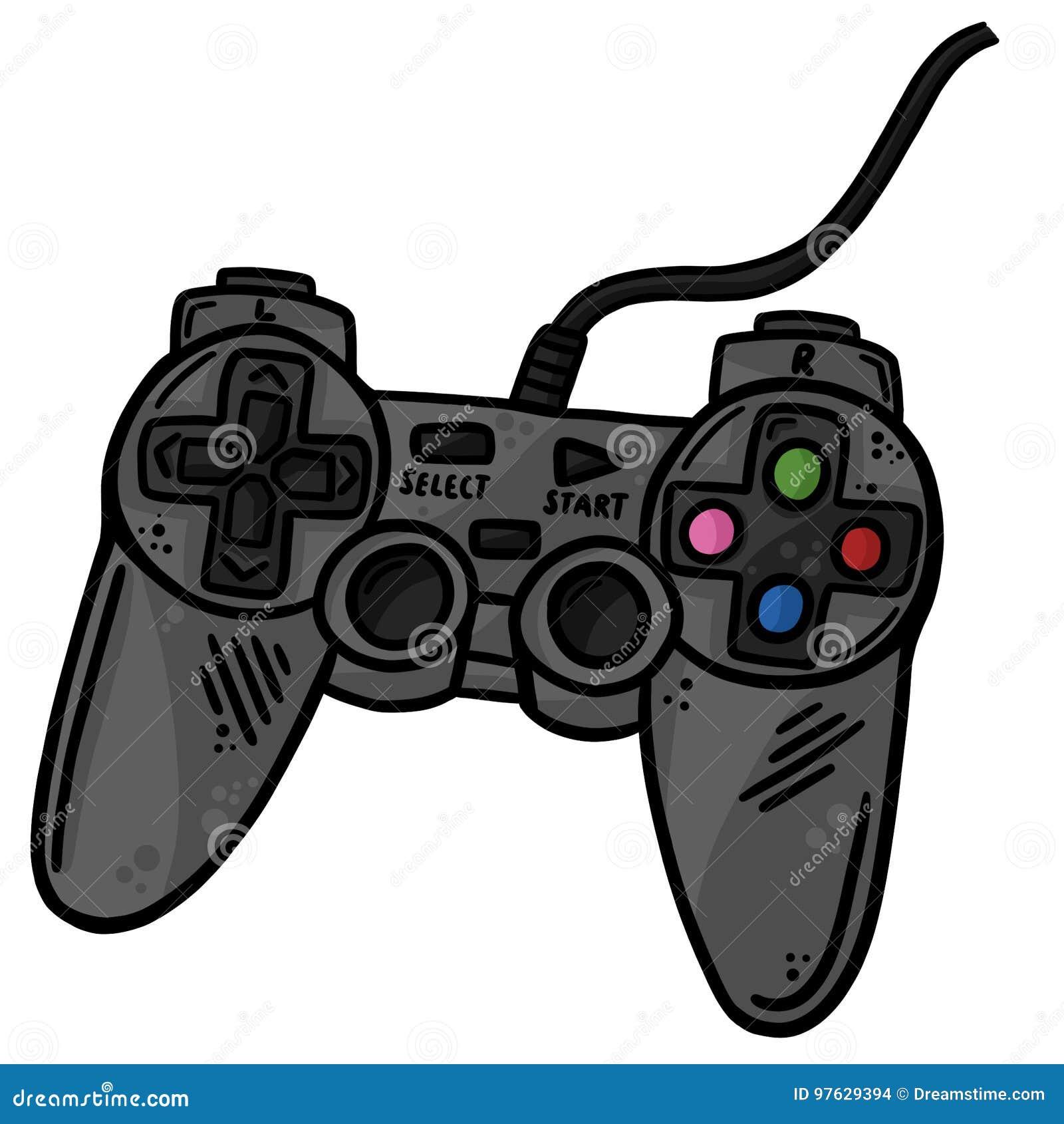Regulador Remote Line Art Vector Illustration Clip Art del juego
