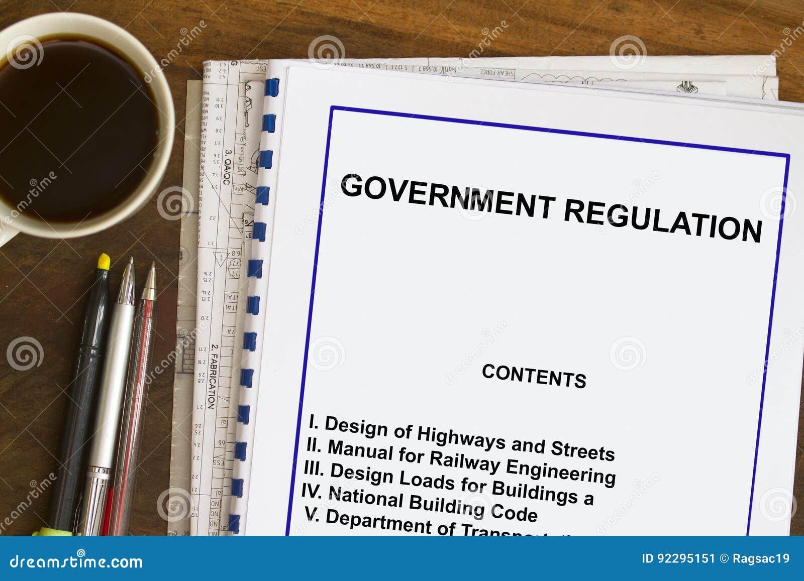Regulamentações governamentais e código