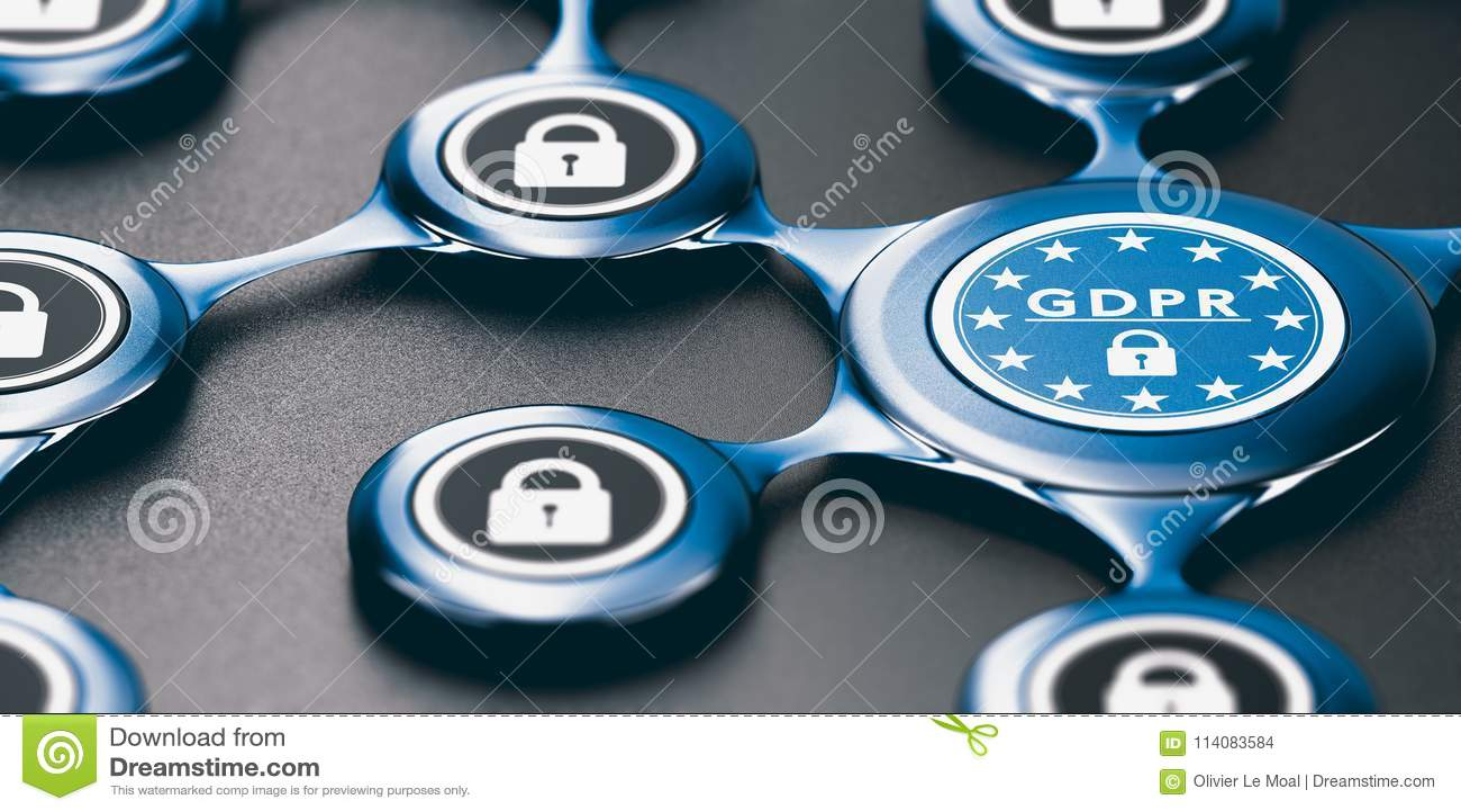 Regulamento geral da proteção de dados, conformidade da UE GDPR e Confo