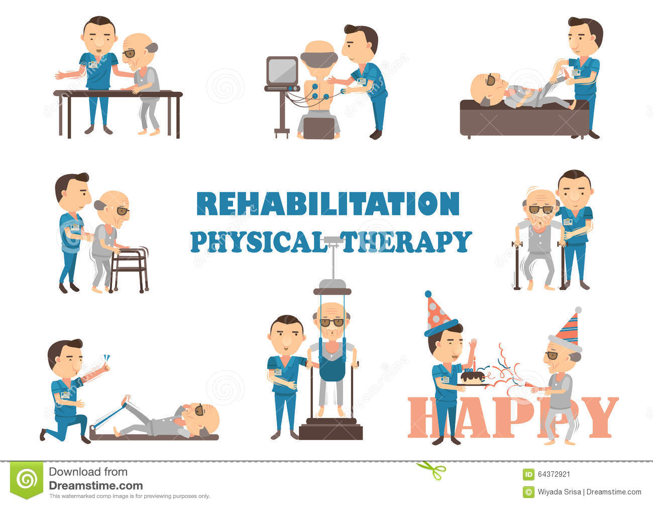 Cartoon physical therapy - Royalty Free Vector Download Rehabilitation Physical Therapy