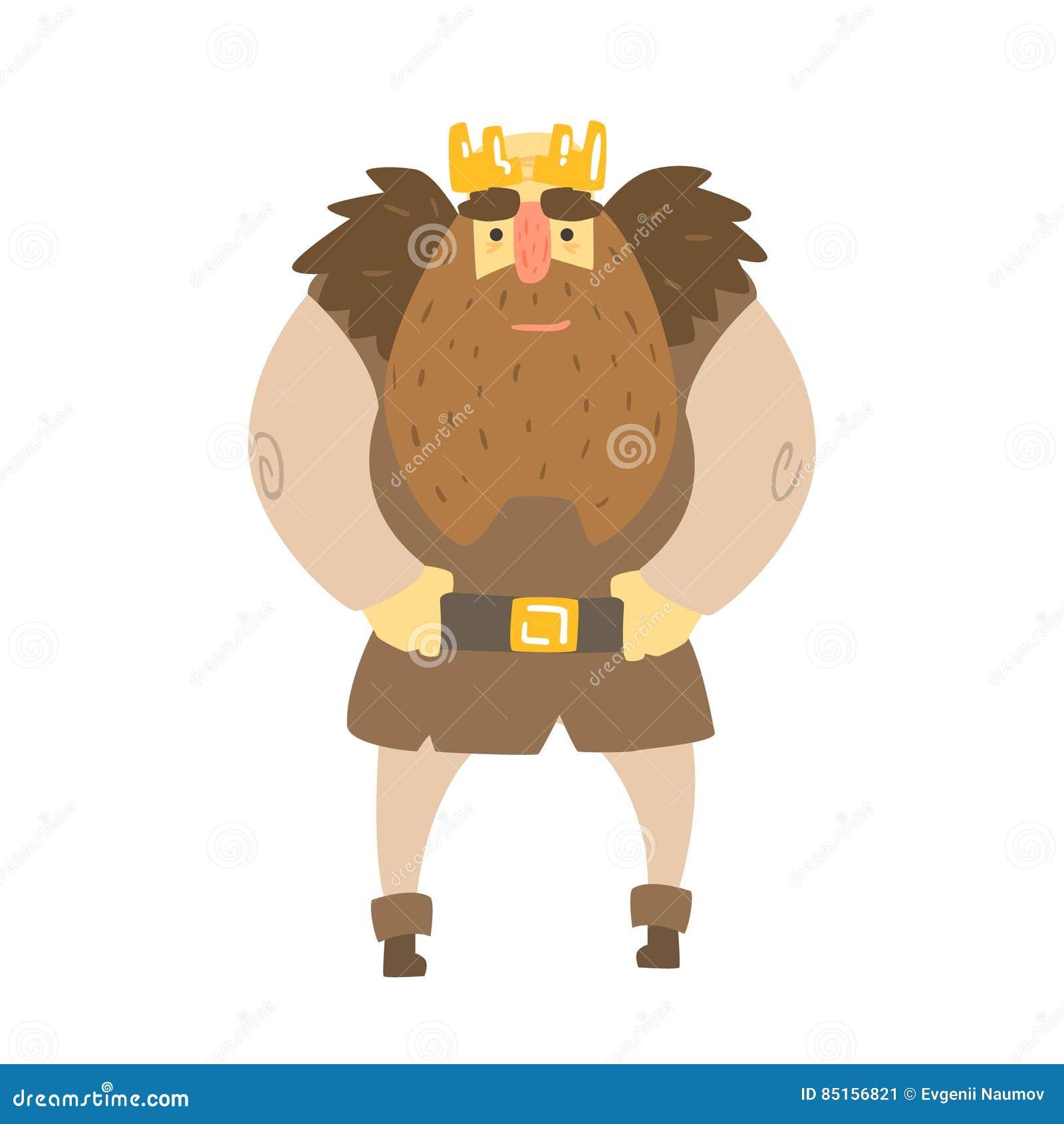 rei bárbaro with animal pelt nos ombros que estão o caráter
