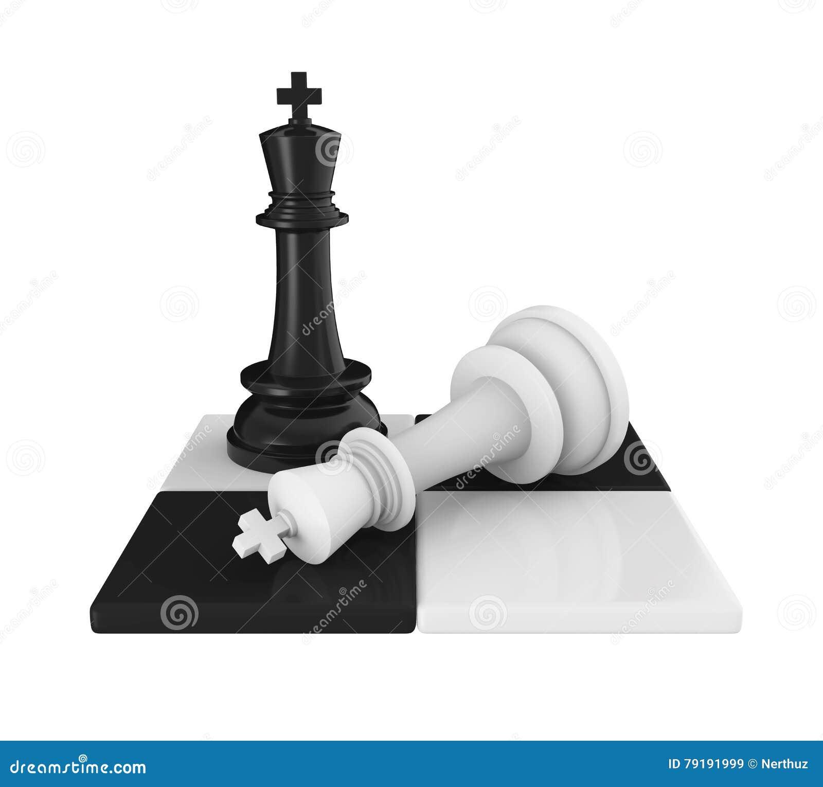 Rei Pieces Checkmate da xadrez