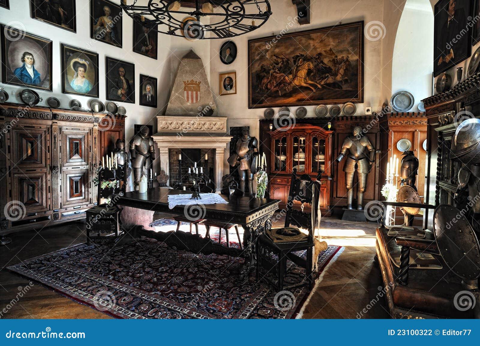 Reichenstein Castle Old Furniture In The Room Editorial