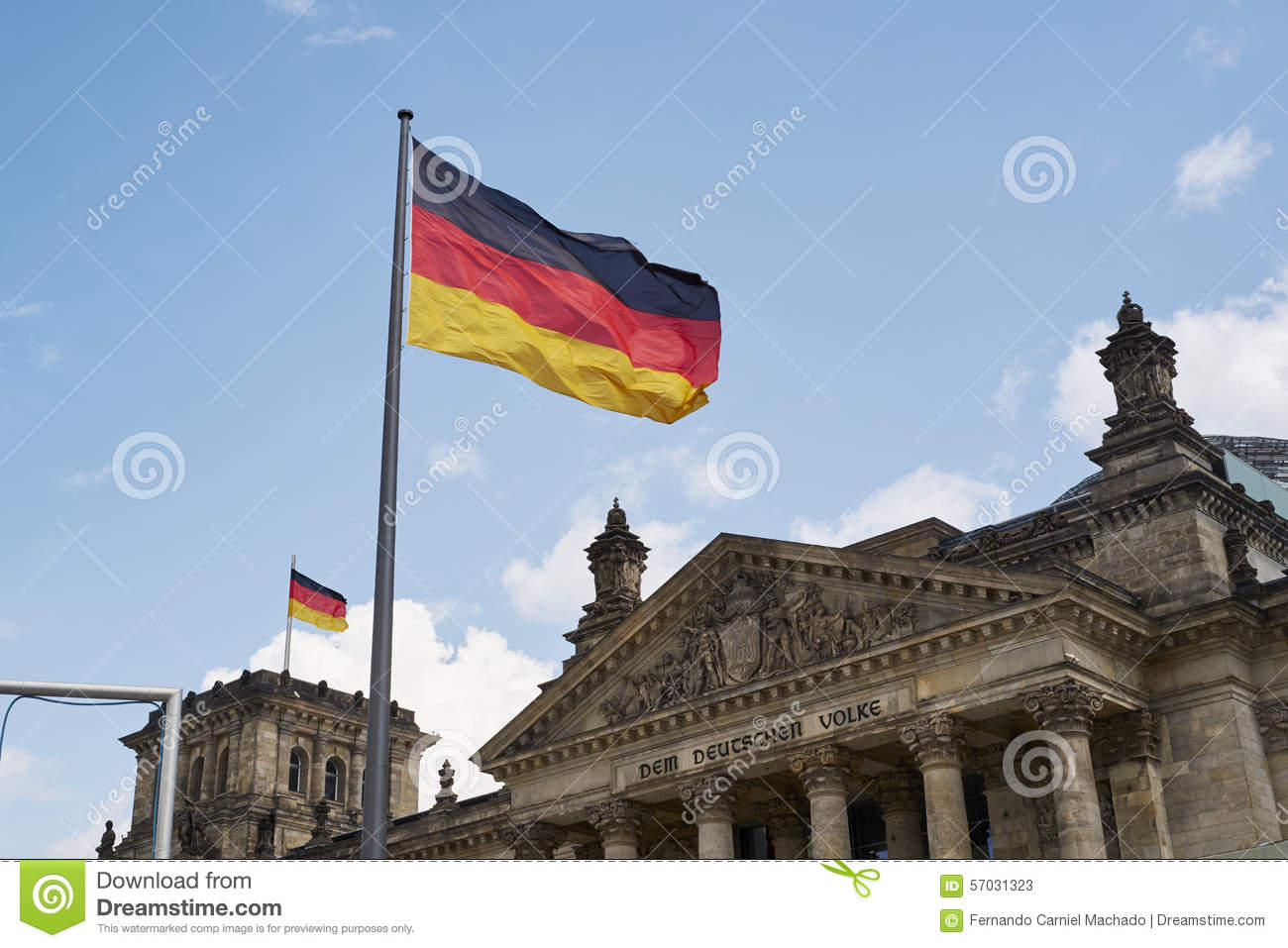 Wind Blowing On Building : Reichstag building editorial stock photo image