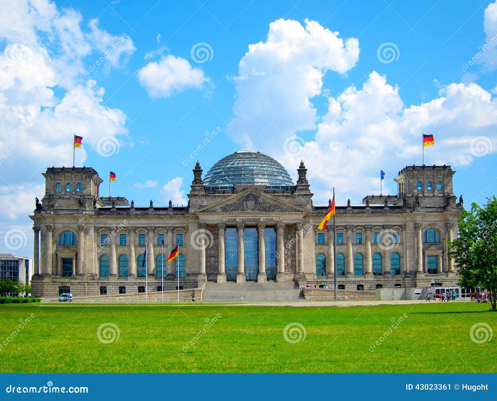 reichstag geb ude berlin germany stockbild bild 43023361. Black Bedroom Furniture Sets. Home Design Ideas