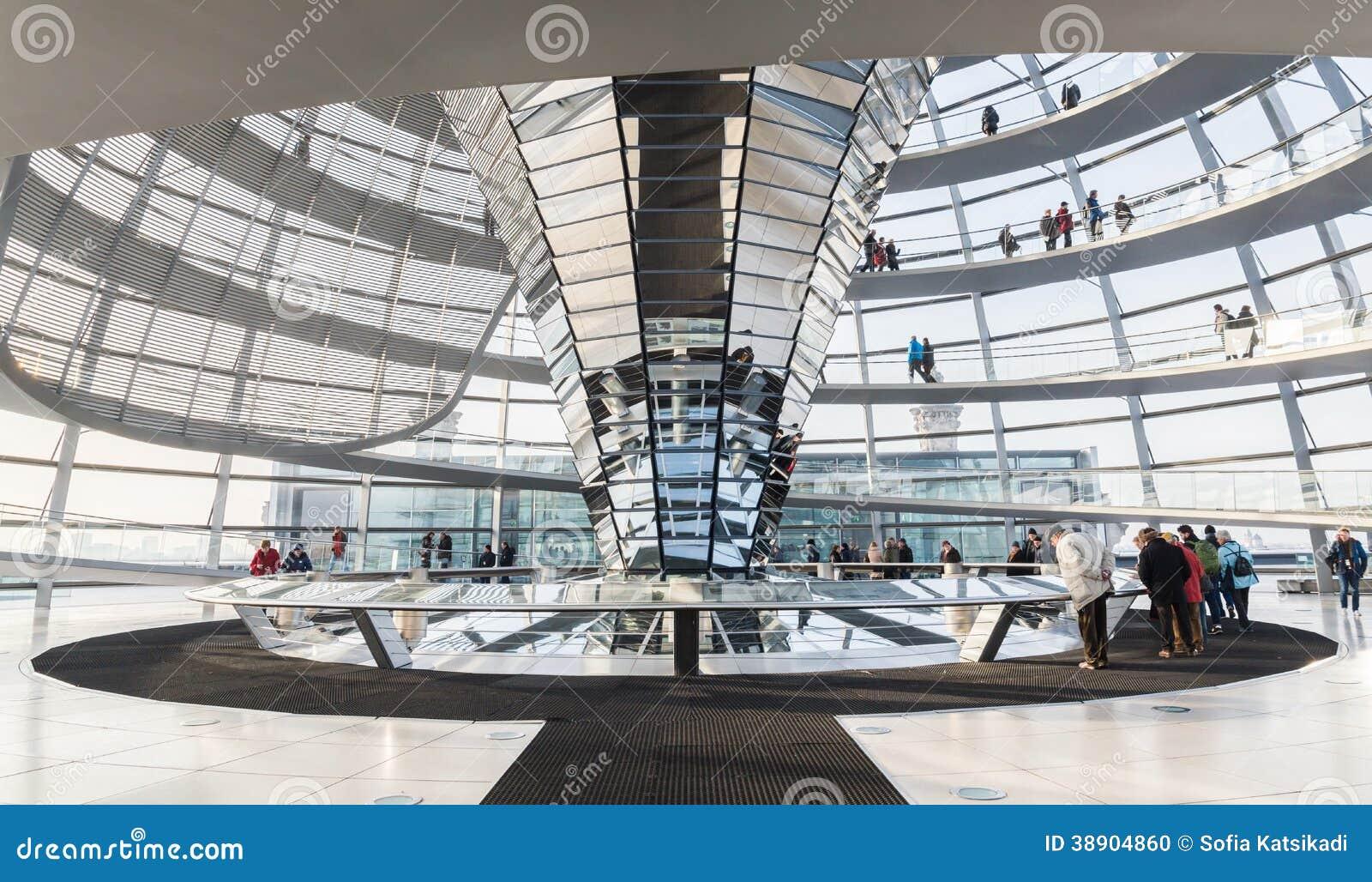Reichstag Glaskuppel Eingang Deutscher Bundestag