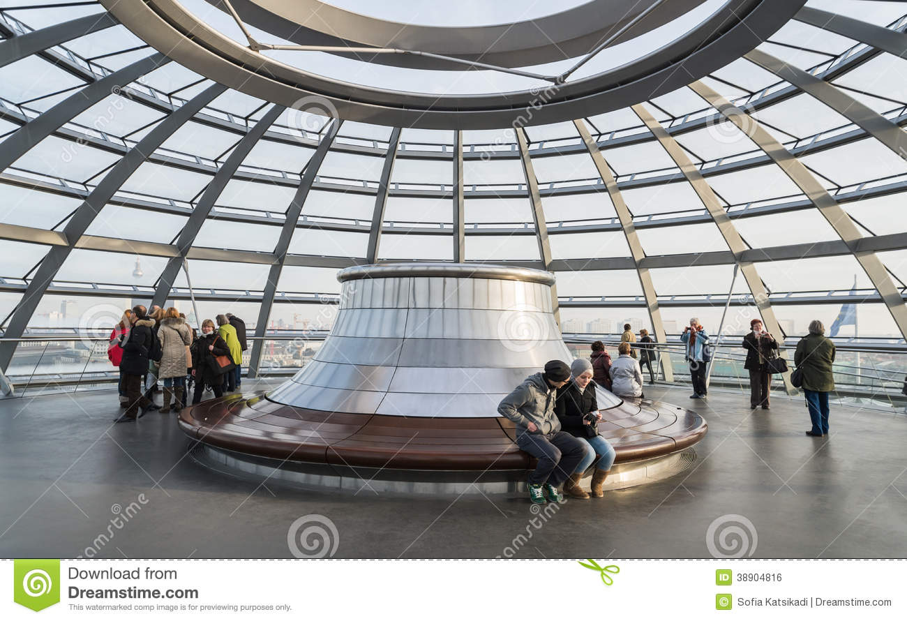 Reichstag Glass Dome Roof German Bundestag Editorial