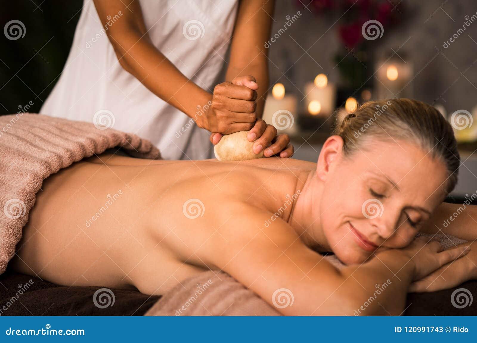 Massage reife frau
