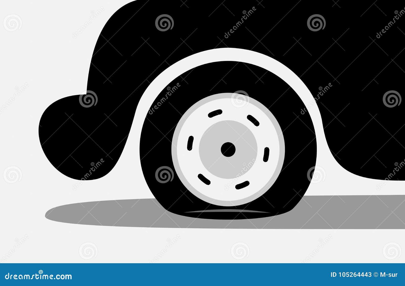 Reifenpanne/Durchbohren des Reifens