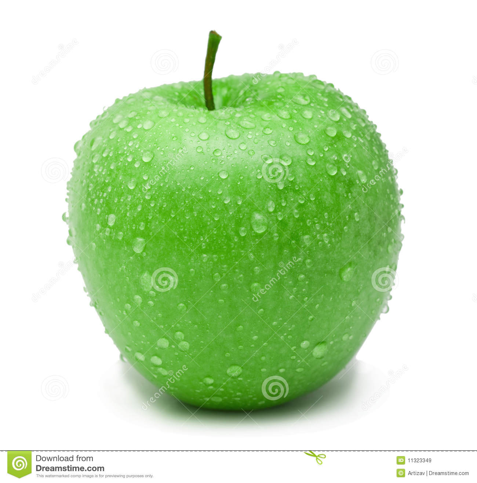 Reifer grüner Apfel