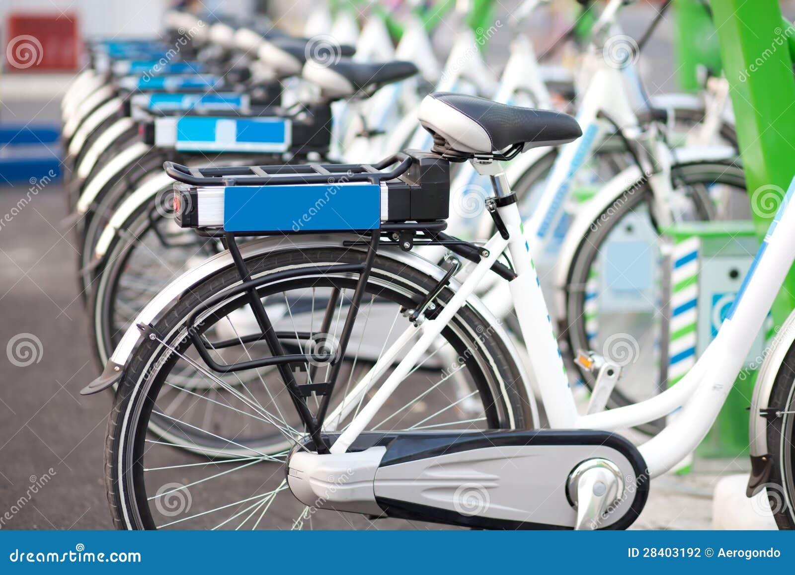 Reihe der Fahrräder