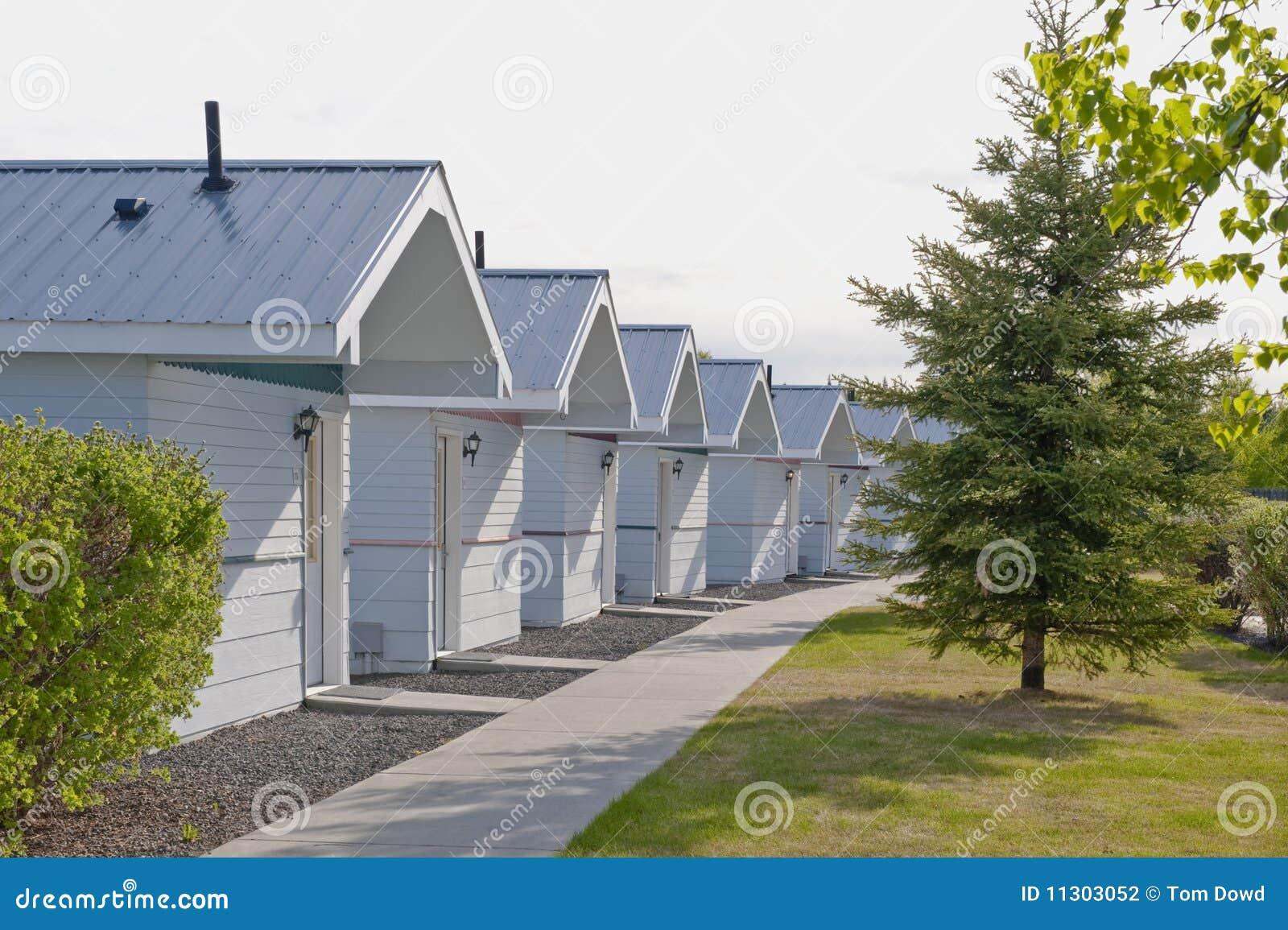 Reihe der hölzernen Häuschen