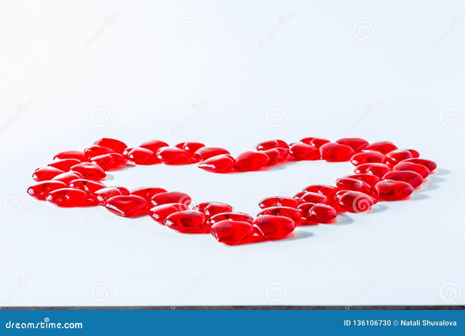 Reihe der Innerer Valentinsgruß-rote abstrakte Tapete Hintergrundcollage