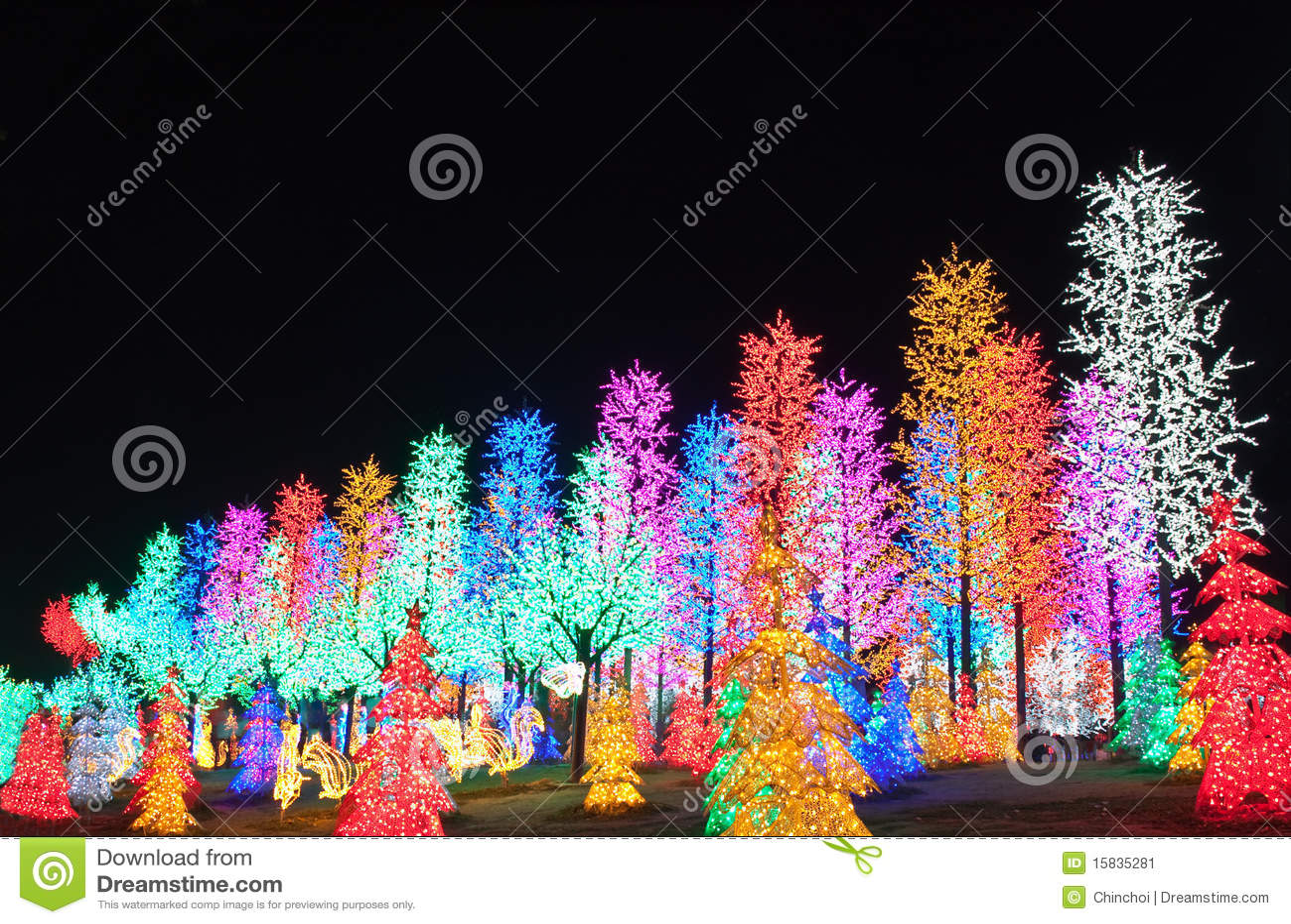 Reihe der LED-Baum-Dekoration