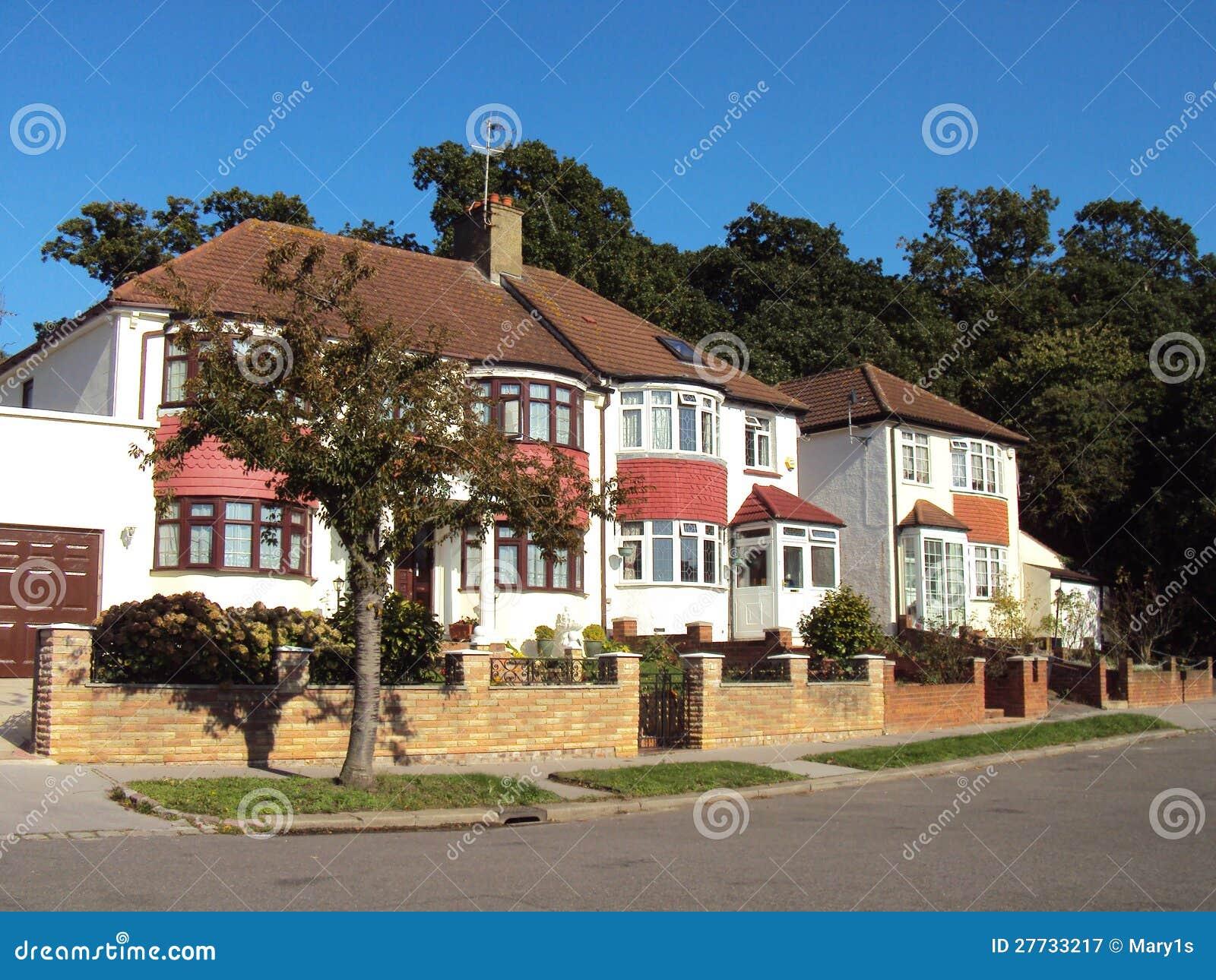 Reihe der prächtigen englischen Häuser