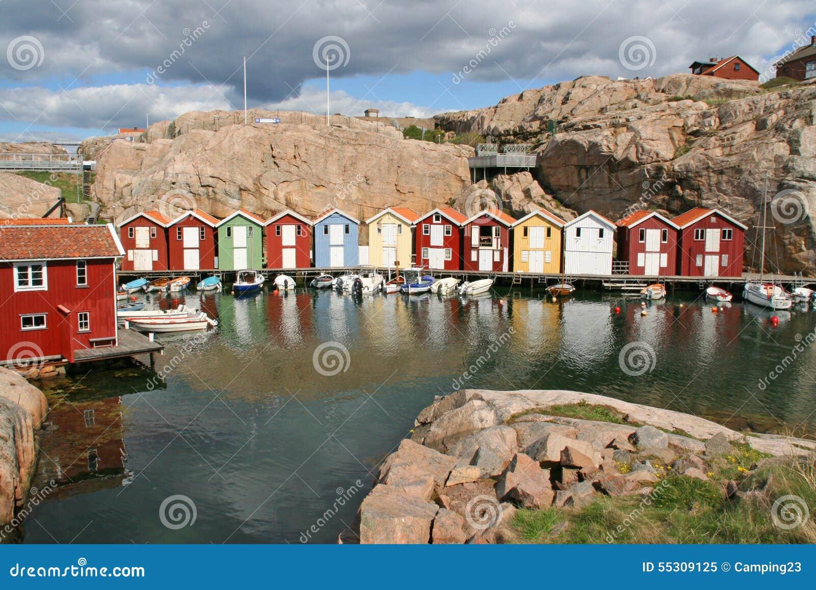 eihe Von Farbigen Häusern, Smogen, Schweden Stockfoto - Bild ... size: 1300 x 958 post ID: 5 File size: 0 B